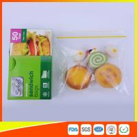 Wholesale Waterproof Plastic Sandwich Bags Reclosable 18 X 17cm For Food Storage from china suppliers