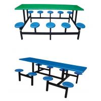 Buy cheap fiberglass or FRP dining table with round stool from wholesalers