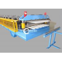China Color Steel Profile Glazed Roof Tile Roll Forming Machine For Zinc Sheet for sale