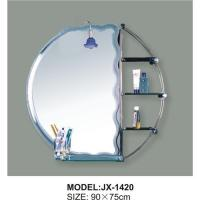 China Glass Beveled Bathroom Mirror,Etched Bath Mirror for sale