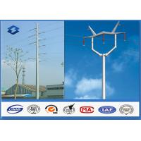 Best 110KV Double Circuits Angle Electrical Power Pole for distribution Line wholesale