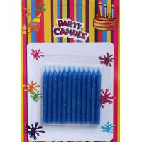 Quality Blue Glitter Birthday Candles (SFC0032) for sale