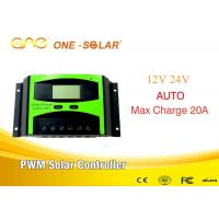 CE FCC Certification Pwm Solar Controller 20A 12V/24V ONE Controller Hi Tech for sale