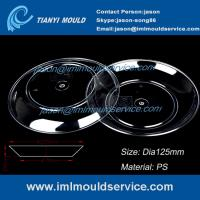 Wholesale 100ml clear PP thin wall round plastic disposable dessert plates/dishes injection mould from china suppliers
