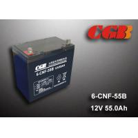 Wholesale 55AH 12v Sealed Lead Acid Batteries , Long Life Solar Wind Energy Storage Battery from china suppliers