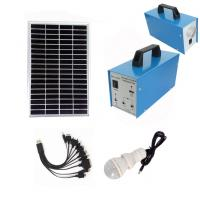 Wholesale 2 LED Bulbs Portable Solar Power Generator 10W For Home With 5AH Battery from china suppliers