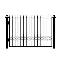 Wholesale House Gates Design Garden Black Iron Fence Panels , Outdoor Metal Fence from china suppliers