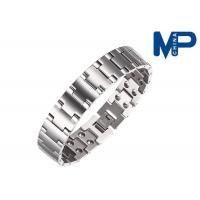 Wholesale Women and men promotional metal bracelet nickel brushed finish from china suppliers