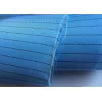 Plain Dyed Esd Fabric Thousands Colors Poly Grid Or Strip Shrink Resistant for sale