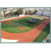 China Excellent Anti - Wear Performance Football Synthetic Grass Mixing Double Green on sale