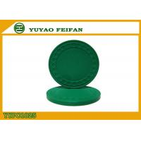 Best One Color Diamond Light Clay Poker Chips 8 Grams With Soft Feeling 40 * 3.3mm wholesale