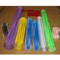 China Customized Extruded Acrylic Rods And Tubes , Colorful Acrylic Thread Rod on sale