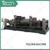Energy Saving Cement Paper Bag Folding Machine , Bottom Width 100 - 150mm for sale