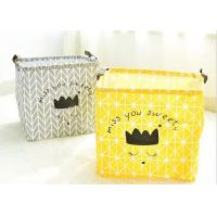 Wholesale Promotion Big Size Kraft Paper Storage Bags Hamper Basket Canvas With Printing from china suppliers