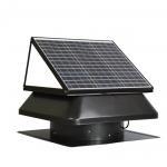 China 30W 40W industrial solar power roof exhaust fan , 14 inch Axial flow air ventilation fan for sale