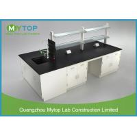 China Floor Mounted Metal Laboratory Furniture Lab Bench Table For University / School on sale