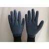Anti Slip Granule Black Latex Gloves , Latex Dipped Work Gloves Comfortable Hand Feeling for sale