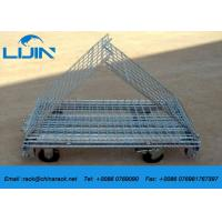 Industrial Use Foldable Steel Wire Mesh Cages , 1200*1000*890mm