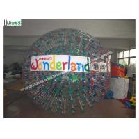 Wholesale 2.6M Dia TPU Human Sized Hamster Ball Inflatable Zorbing Ball With Logo Customized from china suppliers