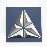 Buy cheap 300mm*300mm Triangle Artistic Ceiling Tiles , Printed Aluminum Open Frame False from wholesalers