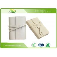 China Handmade Logo Custom Leather Notebook , ROSH White PU Lined Journals Notebooks on sale