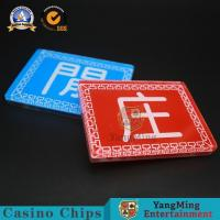 China Acrylic Banker and Player Casino Button Set Baccarat Button Set Factory Outlet Silk Screen Poker Brand YM-DB01-1 for sale