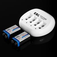 Wholesale EBL 9 VOLT Battery Charger for 600mAh Li-ion Rechargeable Batteries from china suppliers