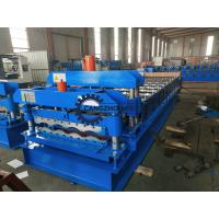 China PPGI / GI Material Steel Tile Roll Forming Machine PLC Control With Fast Speed for sale