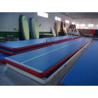 Portable Inflatable Gym Mat , Air Floor Tumbling Mat For Injuries Preventing