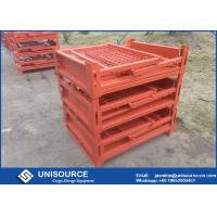 Wholesale Stackable Foldable Metal Box Industrial Steel Pallet Cages For Logistics Transport from china suppliers