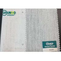China White Brushed Woven Interlining With PA High Bonding Strength For Overcoat for sale