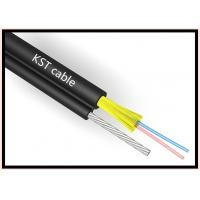 Best Figure 8 Duct Fiber Optic Cable 4 Core Central Loose Tube Kevlar Yarn Strengthen wholesale