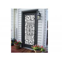 Professional Wrought Iron And Glass Entry Doors For Building Sound Insulation for sale