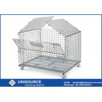 Wholesale Unisource Industrial Collapsible Wire Cage , Electro Galvanized Steel Cage from china suppliers