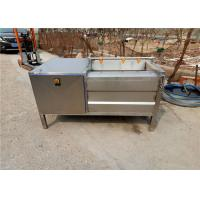 Wholesale Stainless Steel Fruit Washing Machine For Industry High Speed 1.5kw Power from china suppliers