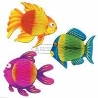 Wholesale Mulitcolor fish 35cm Kids Paper Lanterns children home party decoration baby shower from china suppliers