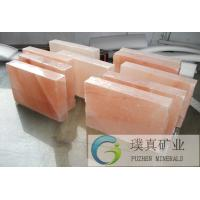 China High quality wonderfull color and accurate sizes Himalayan Rock Salt Bricks/Tiles/Blocks for salt room/SPA rooms for sale