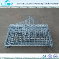 Best Folding Warehouse Logistic Wire Mesh Cages With Powder Coated Finish wholesale