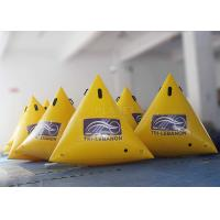 Wholesale Customized Inflatable Race Buoys Green / Yellow / Blue 0.6 Mm PVC Tarpaulin from china suppliers