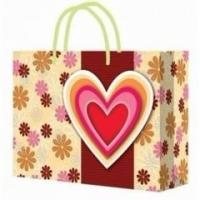 Wholesale Customized Handle Paper Bag for Shopping / Heart Gift Paper Bags for Souvenir from china suppliers