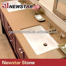 Quality Newstar precut double sink quartz vanity tops for sale