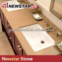 Buy cheap Newstar precut double sink quartz vanity tops from wholesalers
