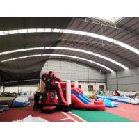 China Indoor Ironman Red Inflatable Bounce House Combo Waterproof Safety Material for sale