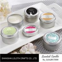 Wholesale Chemical Free Scented Luxury Soy Candles , Personalised Tin Candles For Bathroom from china suppliers