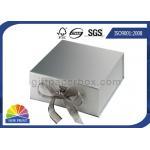 China Customized Design Ribbon Closure Cardboard Gift Box 4C Printing for sale