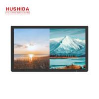 Wholesale Flat Panel Wall Mounted Advertising Display 220V 350cd/㎡ Brightness 1920 X 1080p from china suppliers
