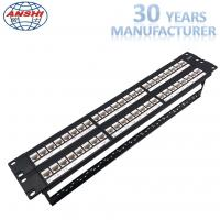 Wholesale Unshielded UTP Network Rack Mount Patch Panel 2u 48 Port Keystone Jack Modular Type from china suppliers