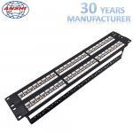 Wholesale Unshielded UTP Network Rack Mount Patch Panel 2u 48 Port Keystone Jack Modular Type from china suppliers