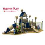 China Children Outdoor Playground Slides , Plastic Material Kids Outdoor Playground With Slide for sale