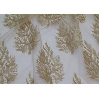 Embroidered Tree Gold Sequin Lace Fabric By The Yard For Wedding Bridal Evening Dress